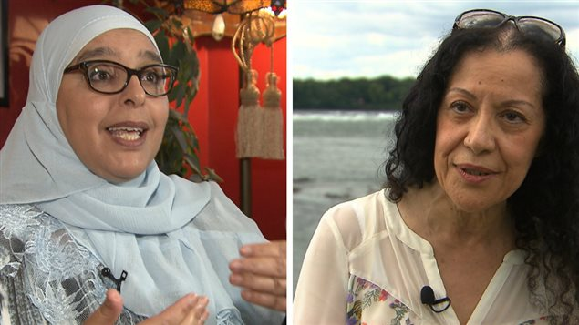 Samira Laouni (à gauche) et Leïla Bensalem (à droite) partagent des avis différents sur le port du burkini dans les écoles du Québec.