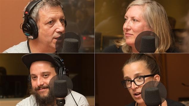 De gauche à droite et de haut en bas : Thierry Daraize, Lesley Chesterman, Antonin Mousseau-Rivard et Marie-Claude Lortie