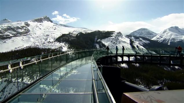 There was much controversy when a glass-floored skywalk was built in Jasper National Park.