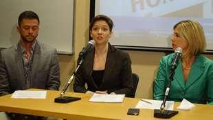 Conférence de presse du regroupement Free Homa Hoodfa from Iran.