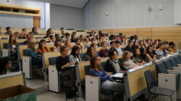 Séance d'accueil d'étudiants étrangers