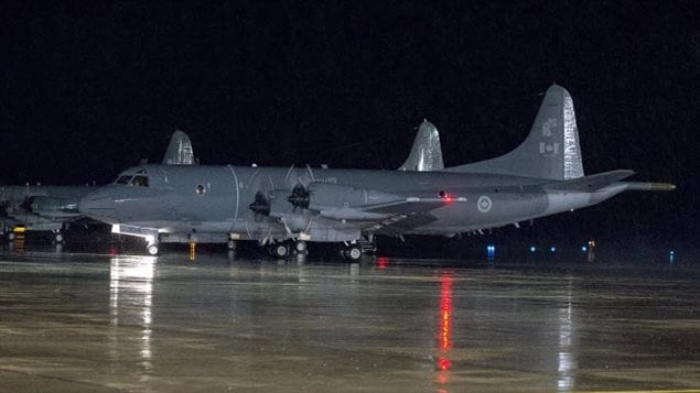 A CP-140M Aurora reconnaissance aircraft  does an engine run-up before taxiing to leave CFB Greenwood in Nova Scotia's Annapolis Valley. Three Canadian planes, two Auroras, and a Polaris refueler are still contributing to the coalition fightint terrorists in Iraq and Syria