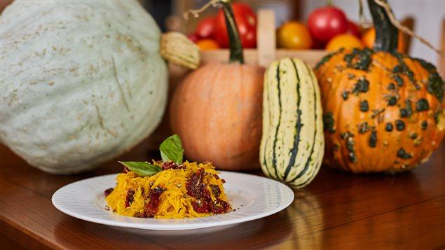 Courge oranghetti aux tomates confites