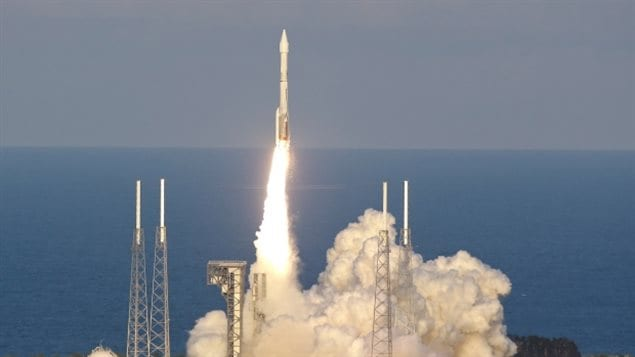 A United Launch Alliance Atlas 5 rocket carrying the Origins, Spectral Interpretation, Resource Identification, Security-Regolith Explorer (OSIRIS-REx) spacecraft lifts off from launch the Cape Canaveral Air Force Station on Thursday