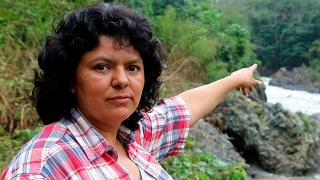 La activista asesinada por oponerse a una represa hidroeléctrica en Honduras.