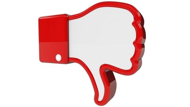 Représentation du bouton « Je n'aime pas » que plusieurs utilisateurs aimeraient voir apparaître sur Facebook
