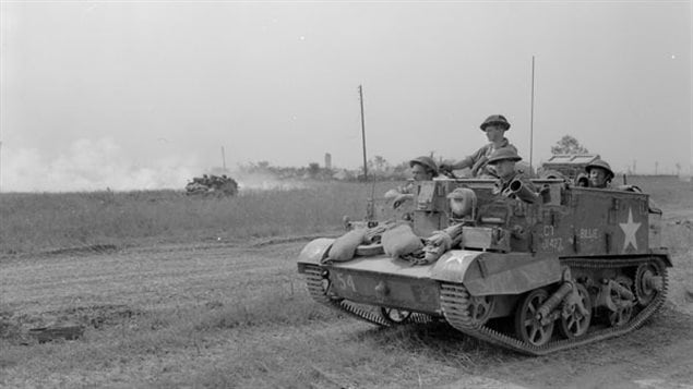 A Universal Carrier of The Lake Superior Regiment, Cintheaux, France, 8 August 1944.