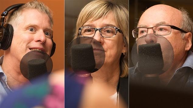 Fred Savard, Carole Beaulieu et Jean-Pierre Lemasson
