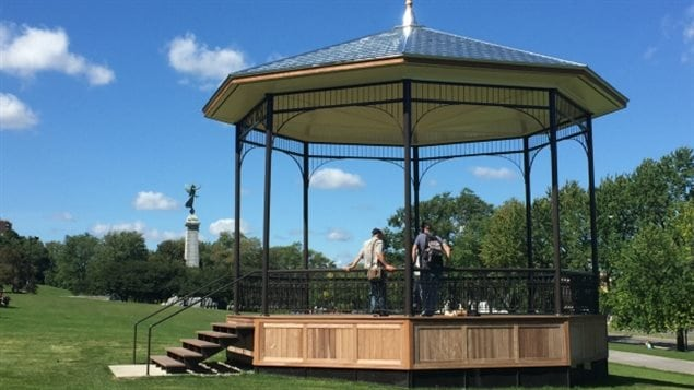 The fencing and building materials and equipment were quietly removed this week allowing public access to the bandstand