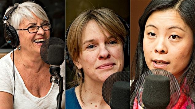 Brigitte Haentjens, Josée Blanchette et Cathy Wong