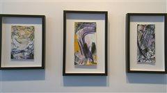 Des oeuvres de Marcelle Ferron sont présentées à la Galerie Michel Guimont.