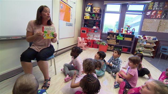 Une classe de maternelle