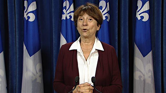 La porte-parole parlementaire de Québec solidaire et députée de Gouin, Françoise David