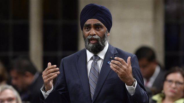 Defence Minister Harjit Sajjan answers a question during Question Period in the House of Commons in Ottawa on Monday, September 19, 2016.