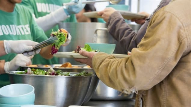 Visits to food banks offering meals, and food boxes are up in Canada's biggest city. The number of baby boomers and seniors visiting food banks has increased dramatically.
