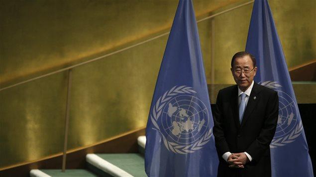 Ban Ki-Moon, secretario general de Naciones Unidas en la Asamblea General de la instancia de Septiembre, 2016