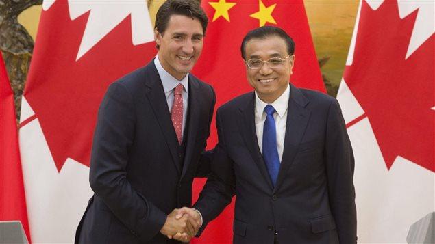 Le premier ministre de la République populaire de Chine, Li Keqiang est au Canada, pour une visite officielle du 21 au 24 septembre 2016. Pendant son séjour au pays, il doit rencontrer le premier ministre du Canada Justin Trudeau.