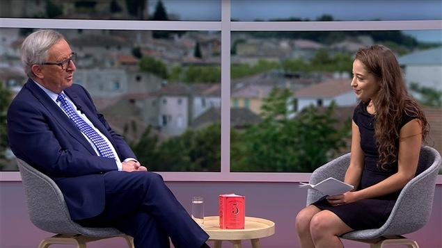 Image de l'entrevue de la vid�aste Laetitia Nadji avec Jean-Claude Juncker