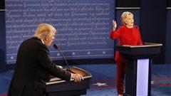 Donald Trump et Hillary Clinton durant le d�bat