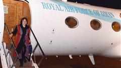 Homa Hoodfar � son arriv�e au Sultanat d'Oman