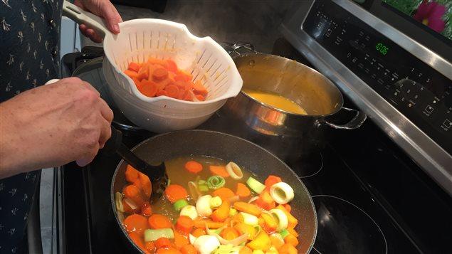 La coupe des légumes