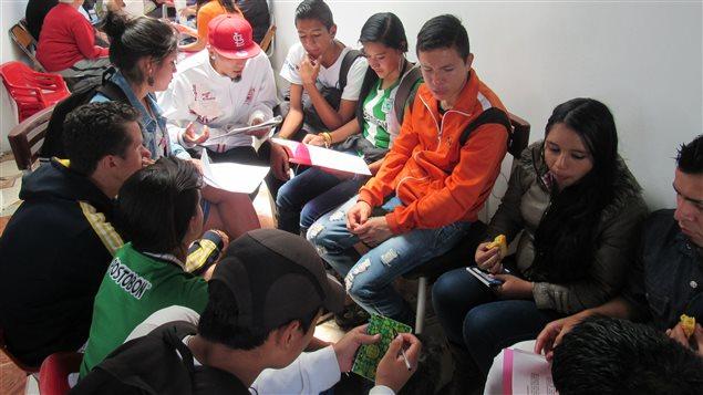 Trabajando con jóvenes en Soacha.