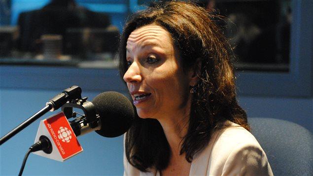 Martine Ouellet, candidate à la course à la direction du Parti québécois