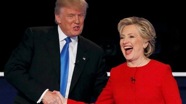 Donald Trump et Hillary Clinton au moment du débat.