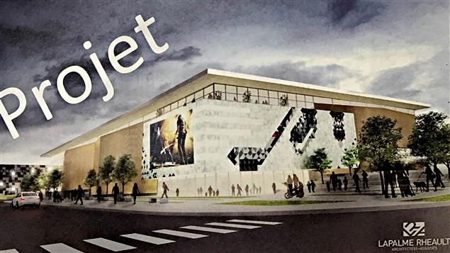 Une maquette du futur amphithéâtre municipal de Gatineau, à la place de la Cité.