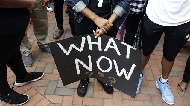 Manifestation à Charlotte, en Caroline du Nord, le 21 septembre dernier, en lien avec la mort de Keith Lamont Scott, abattu par la police.