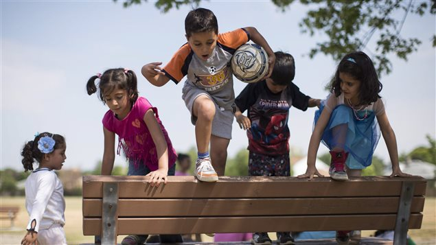 أطفال سوريّون لاجئون في كندا