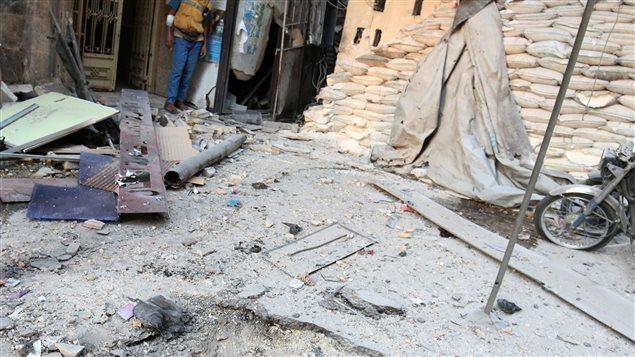 Hospital destruido este miércoles en Alepo