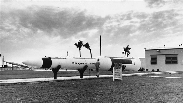 The Minuteman missile at the USAF Space Museum, Cape Kennedy, Florida, 1968.