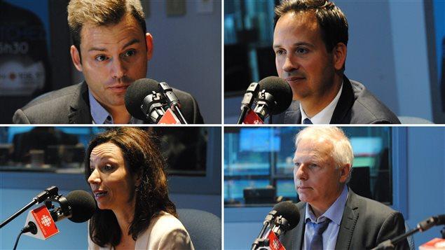 Michel C. Auger a re�u en entrevue les quatre candidats � la chefferie du Parti qu�b�cois.