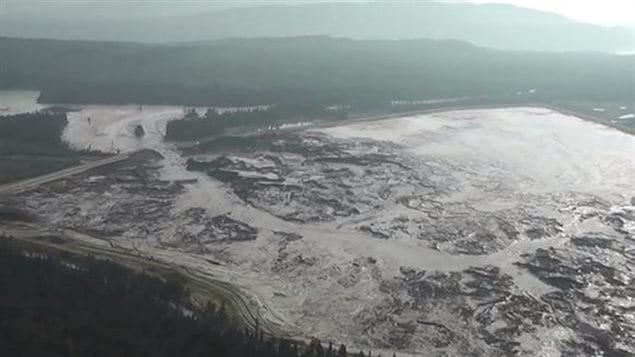 After years of warning about high levels in its tailing ponds, Imperial Metals the Mount Polley mine pind breached on Aug 4 2014, releasing about 14 million cubic metres of water and toxic slurry into Hazeltine Creek Polley Lake , Cariboo Creek and Quesnel Lake