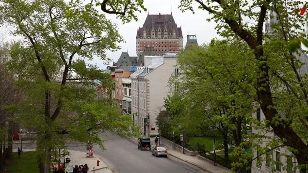 Une vue du Vieux-Québec et du château Frontenac