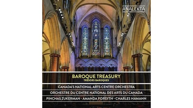 Pochette de l'album <i>Tr�sors baroques</i> de l'Orchestre du Centre national des arts du Canada sous la direction de Pinchas Zukerman, paru sous �tiquette Analekta