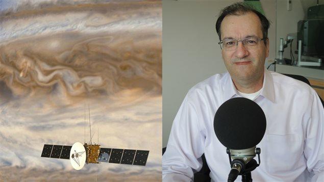 Rosetta en avant de Jupiter et Francis LeBlanc