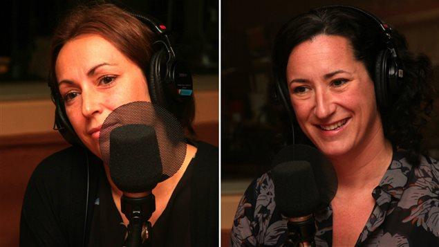 Isabelle Champagne, enseignante au primaire et mère de deux enfants, et Marie-Pierre Duval, productrice du documentaire <i>Doués et oubliés : maman, quand est-ce que j'apprends?</i>