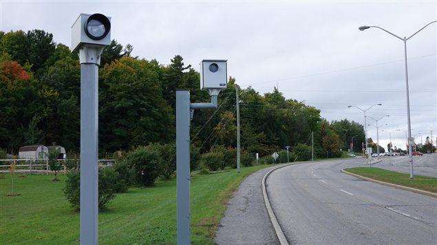 Un système de radar photo installé à une intersection de la capitale.