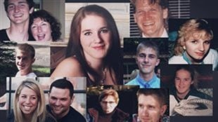 Montage de victimes de surdoses mortelles causées par le fentanyl. © Radio-Canada