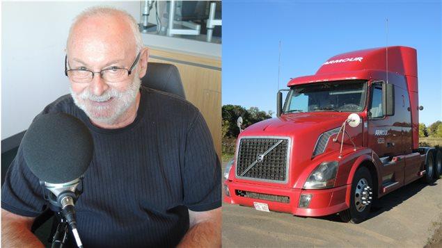 Georges Leblanc et son camion