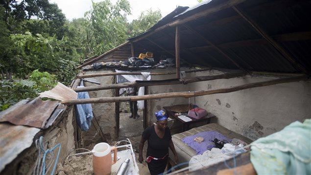 Le passage de l'ouragan Matthew en Haïti a détruit beaucoup de maisons