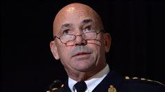 Le commissaire de la Gendarmerie royale du Canada, Bob Paulson, en point de presse à Ottawa