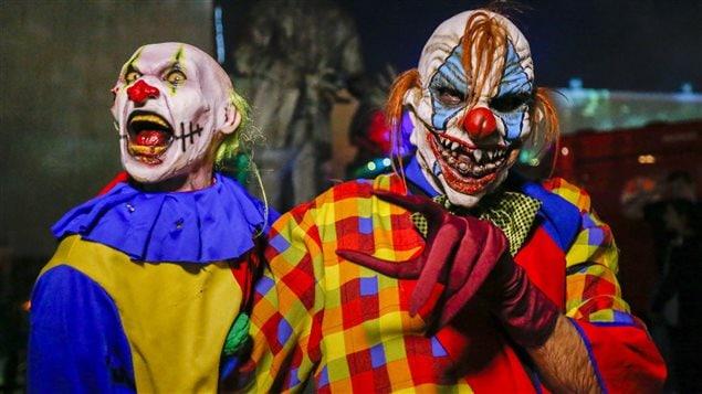 L'apparition de clowns effrayants est un phénomène nord-américain.