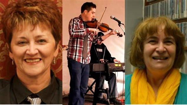 Delores Boudreau,  Colin Grant et Barbara LeBlanc