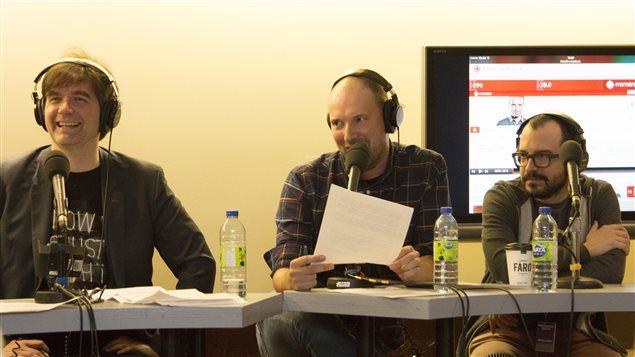 Martin Lessard, André Martineau et Laurent LaSalle