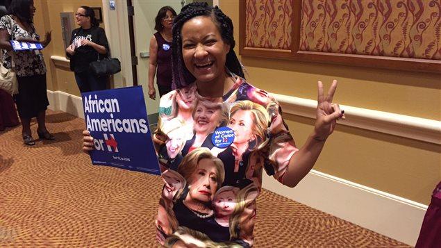 Partisane d'Hillary Clinton lors d'un rassemblement de femmes de couleur, Orlando, octobre 20162016