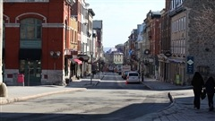 La rue Saint-Jean dans le Vieux-Québec.