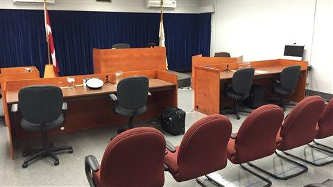 Cour martiale à Valcartier   PHOTO : ICI RADIO-CANADA/JOCELYN LÉTOURNEAU